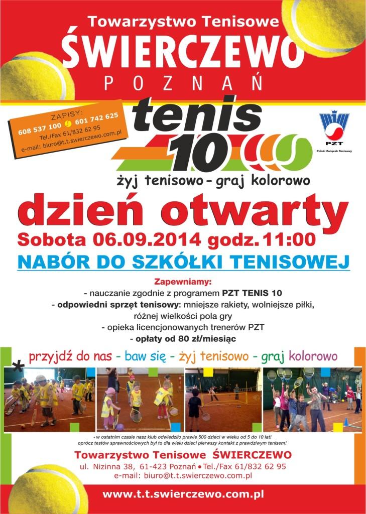 Nabór do szkółki tenisowej 2014 / 2015
